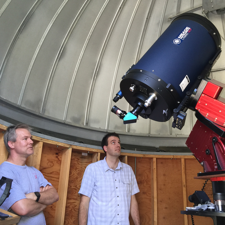 "16"" telescope newly installed"