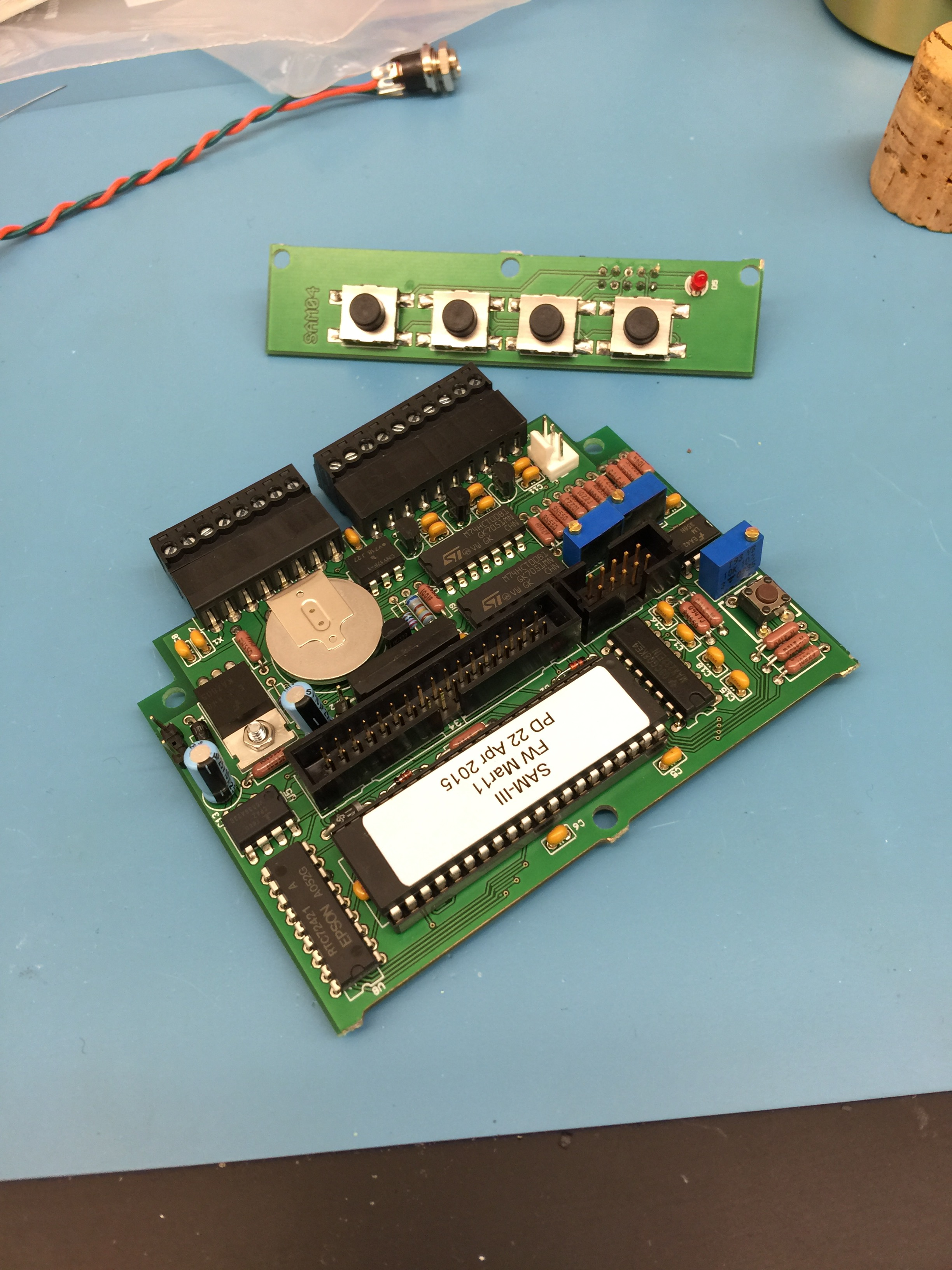 The completed main board