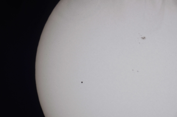 Mercury Transiting the Sun 9 May 2016