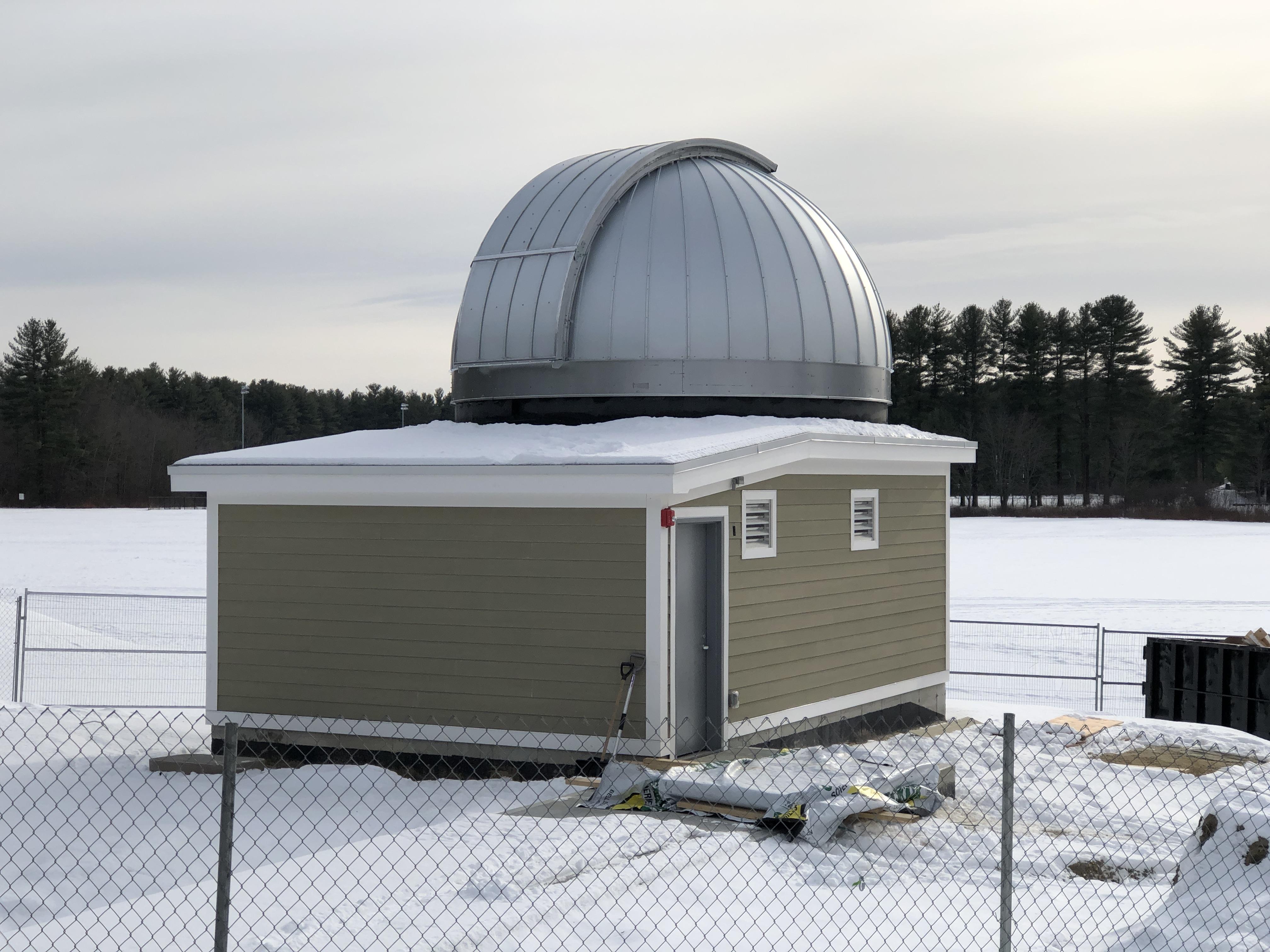 Roof is complete. Dome is complete. Door has been installed.