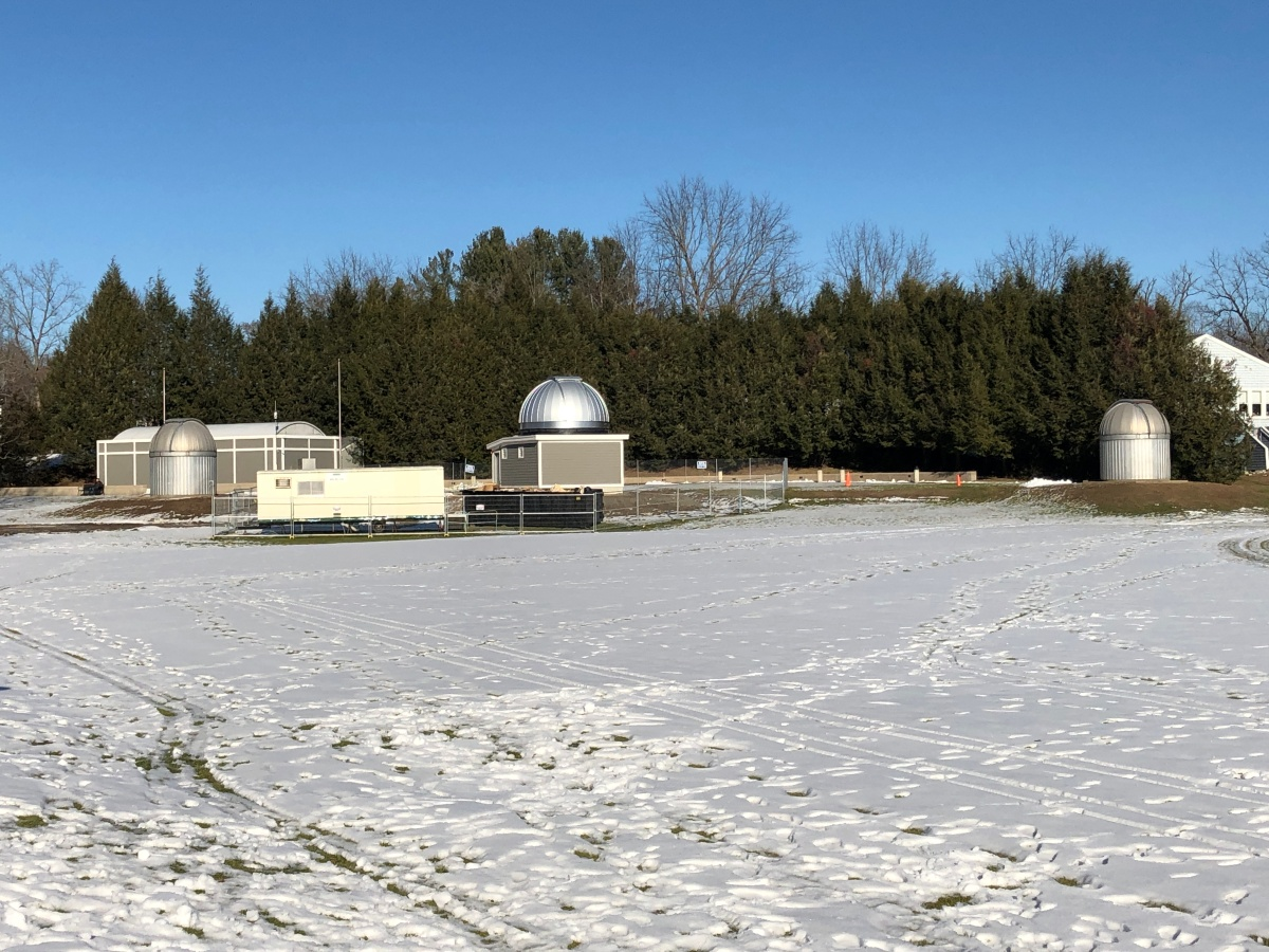 All three of the observatory's domes visible for comparison.