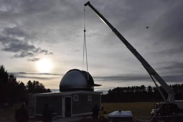 Sunrise with telescope into dome