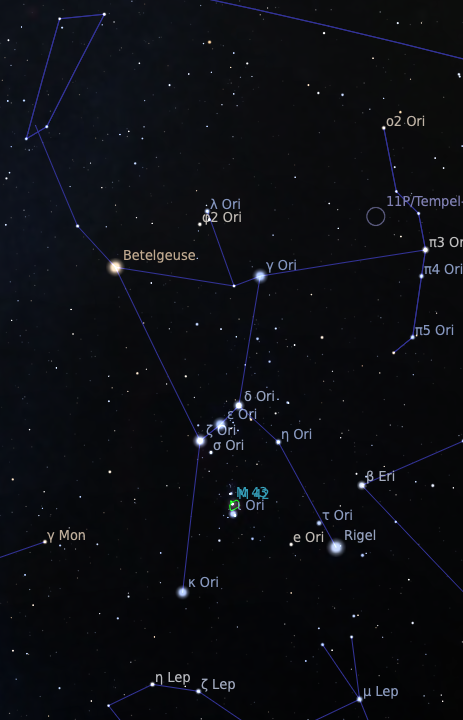 Map of Orion